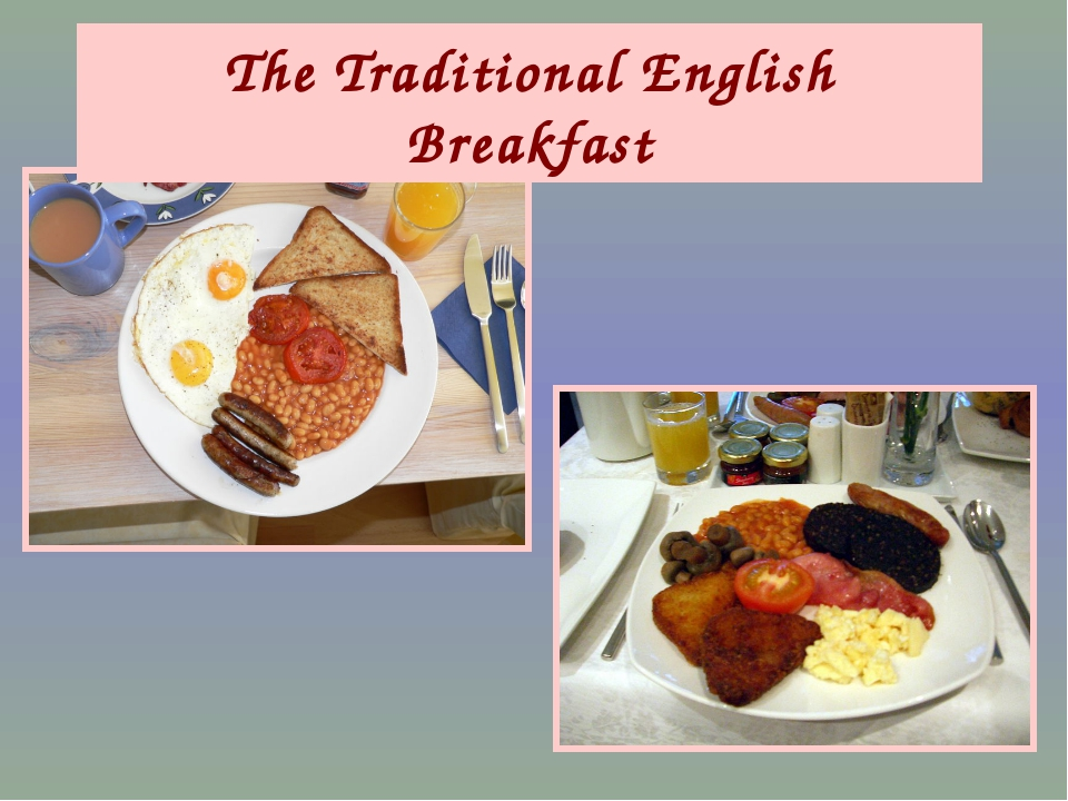 The Traditional English Breakfast