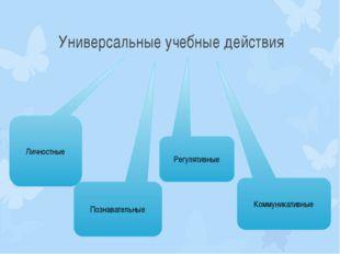 Универсальные учебные действия Личностные Познавательные Регулятивные Коммуни