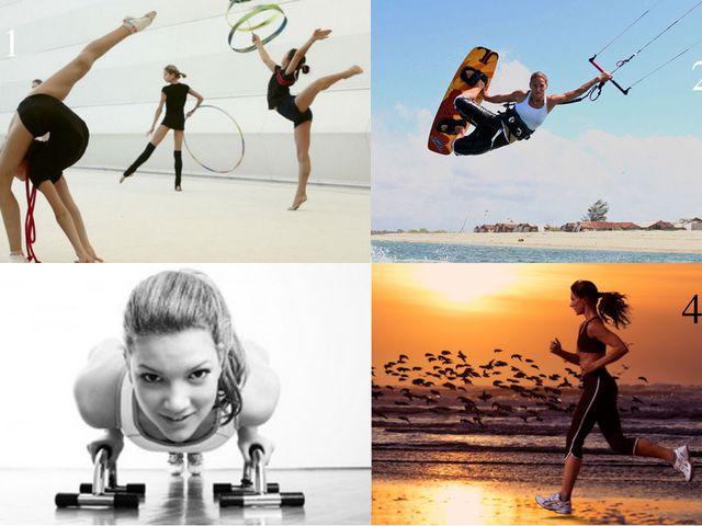 1 2 4 3 Скажите к какому виду фитнеса относятся данные картинки?