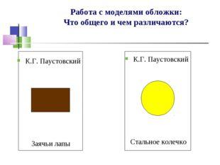 Работа с моделями обложки: Что общего и чем различаются? К.Г. Паустовский Зая