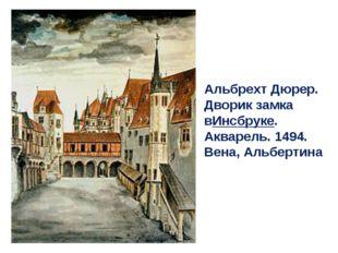 Альбрехт Дюрер. Дворик замка вИнсбруке. Акварель. 1494. Вена, Альбертина