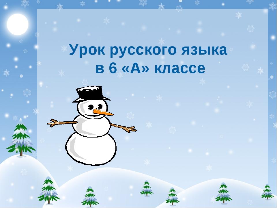 Урок русского языка в 6 «А» классе
