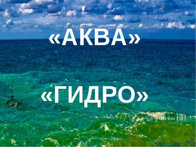 «АКВА» «ГИДРО»