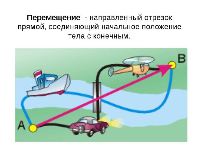 Перемещение - направленный отрезок прямой, соединяющий начальное положение те...