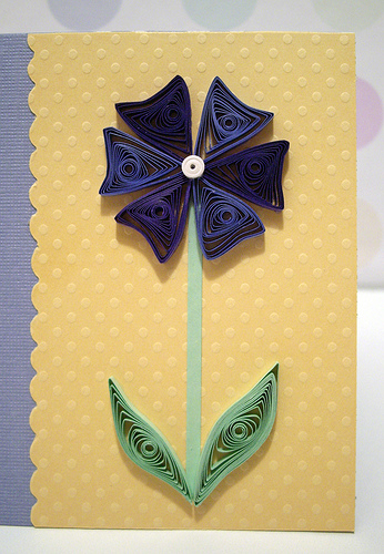 One Good Friend Card in Blue by quillynilly.