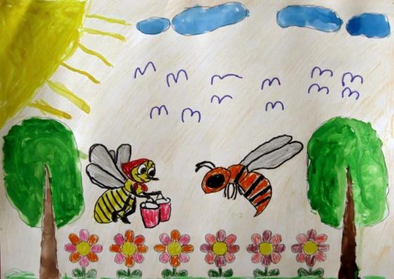 C:\Users\Us\Desktop\сказки для газеты\Атыгаева Азалия\по сказке о доброй пчёлке Атыгаева Азалия.jpeg