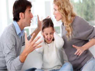 Ошибочная модель воспитания Чрезмерная жестокость, грубость, ссоры, конфликты