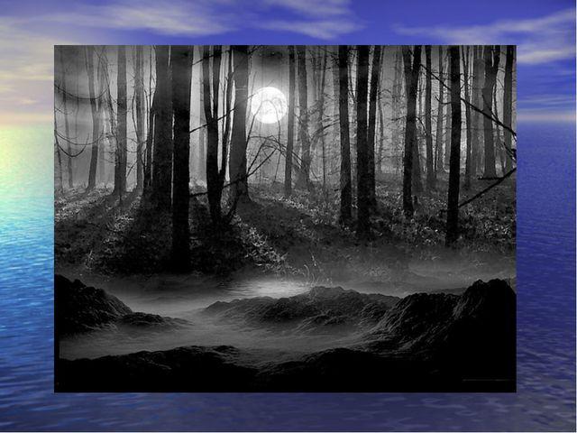 Веял холод в лицо От угрюмых небес, И, бог знает о чём , Плакал сумрачный лес.