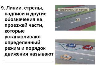 Виды дорожной разметки 9. Линии, стрелы, надписи и другие обозначения на прое