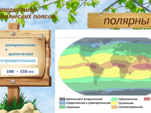 Характеристика климатических поясов полярные