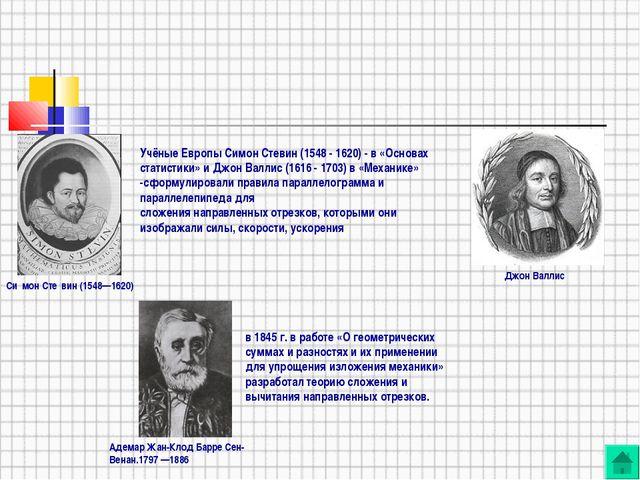 Учёные Европы Симон Стевин (1548 - 1620) - в «Основах статистики» и Джон Валл...