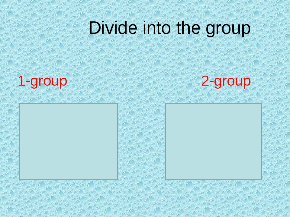 Divide into the group 1-group 2-group