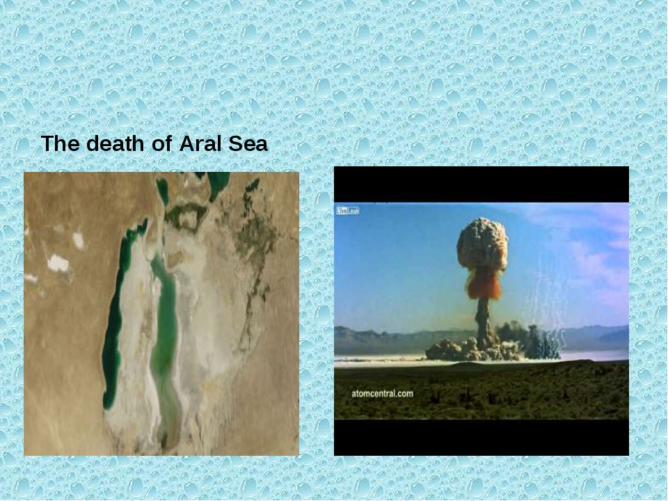The death of Aral Sea Nuclear explosion