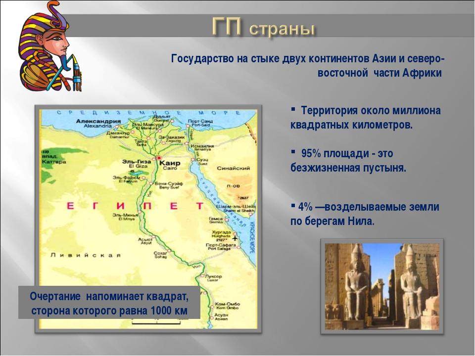 Государство на стыке двух континентов Азии и северо-восточной части Африки Оч...