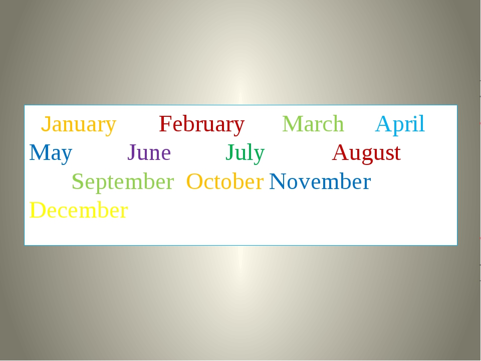 January February March April May June July August September October November...