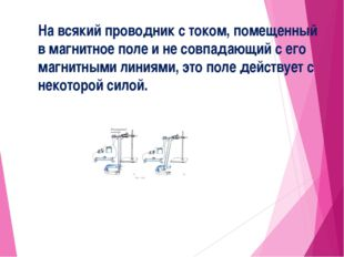 На всякий проводник с током, помещенный в магнитное поле и не совпадающий c е