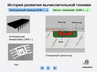 ЕС ЭВМ 1020 (1972 г. СССР) История развития вычислительной техники Третье пок