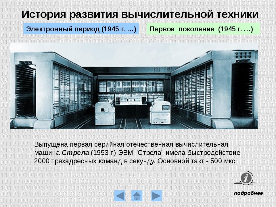 История развития вычислительной техники Транзистор Второе поколение (1955 г....