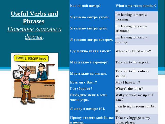 Useful Verbs and Phrases Полезные глаголы и фразы. Какой мой номер?What's m...