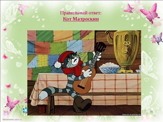 Правильный ответ: Кот Матроскин