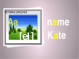 name Kate [eI] Aa