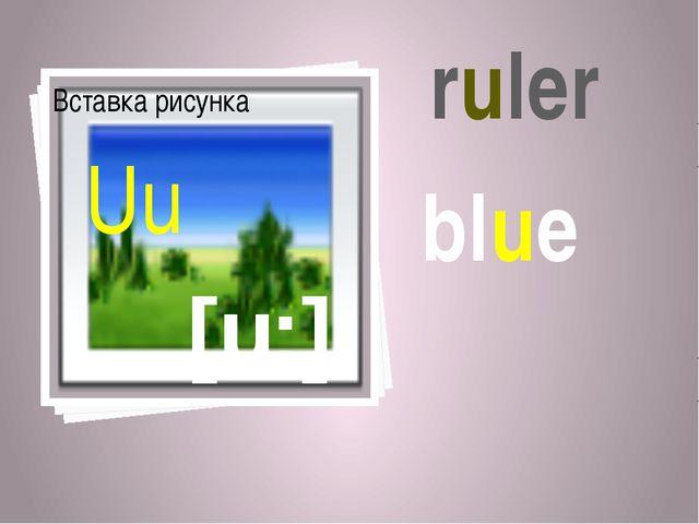 [u:] Uu ruler blue