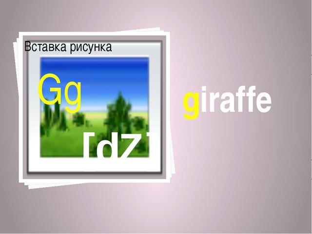 giraffe [dZ] Gg