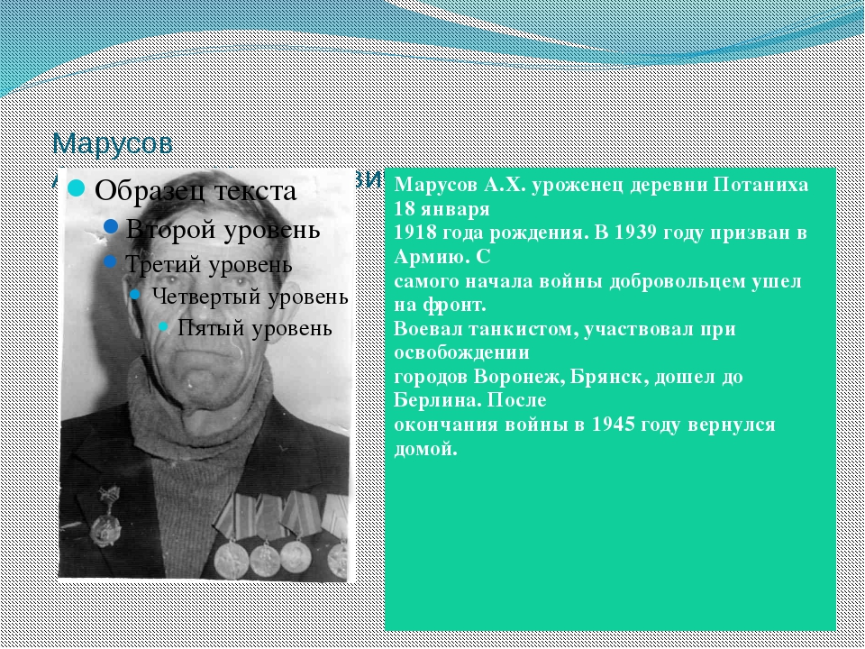 Марусов Александр Харитонович Марусов А.Х. уроженец деревниПотаниха18 января...