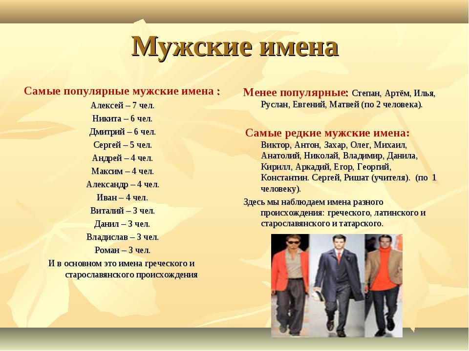 Популярные мужские русские имена 2018 в России
