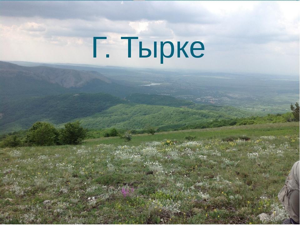 Г. Тырке