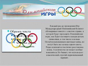 Каждый раз до проведения Игр Международный Олимпийский Комитет обговаривает