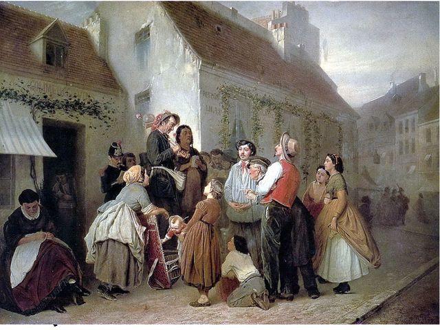 Продавец песенников в Париже1863-1864 (не окончена)