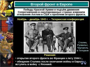 Второй фронт в Европе Победы Красной Армии и подъём движения Сопротивления в