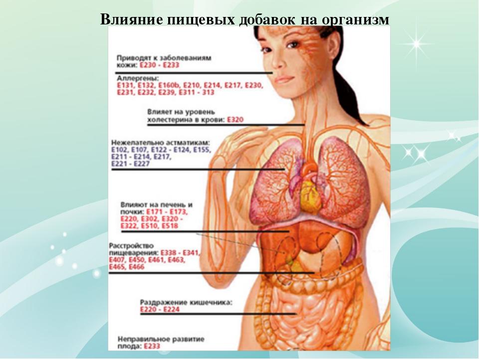 Влияние пищевых добавок на организм