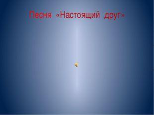 Песня «Настоящий друг»