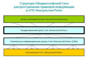 Структура Общероссийской Сети распространения правовой информации в СПС Консу