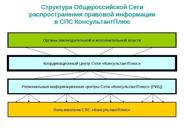 Структура Общероссийской Сети распространения правовой информации в СПС Консу...