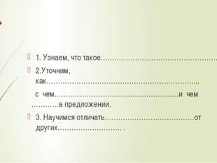 1. Узнаем, что такое………………………………………………., 2.Уточним, как………………………………………………………