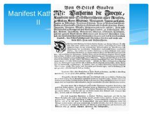 Manifest Katharina II