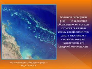 Большой барьерный риф— не целостное образование, он состоит из тысяч связанн