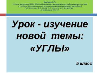 Куклина Н.П. учитель математики МБОУ ЕСШ №9 Елизовского муниципального района