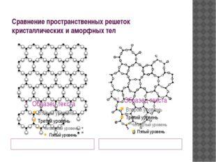 Сравнение пространственных решеток кристаллических и аморфных тел «дальний»по