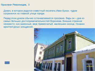 Проспект Революции, 29 Здание для Воронежской Духовной Семинарии начали стр