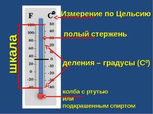 шкала деления – градусы (С0)