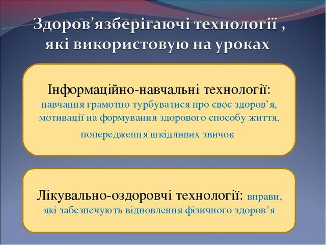 Інформаційно-навчальні технології: навчання грамотно турбуватися про своє зд...