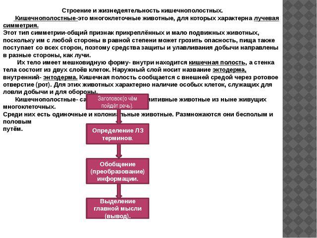 Строение и жизнедеятельность кишечнополостных. Кишечнополостные-это многоклет...