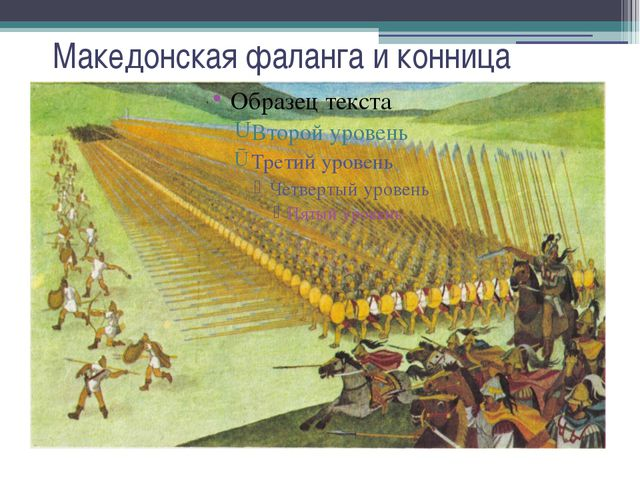 Македонская фаланга и конница