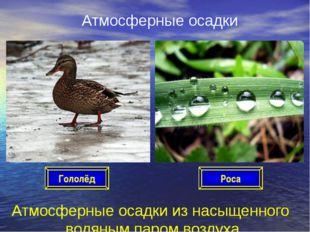 Атмосферные осадки Атмосферные осадки из насыщенного водяным паром воздуха Ро