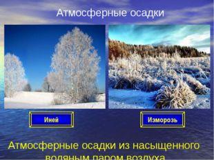 Атмосферные осадки Атмосферные осадки из насыщенного водяным паром воздуха Ин