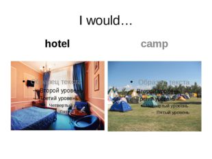 I would… hotel camp